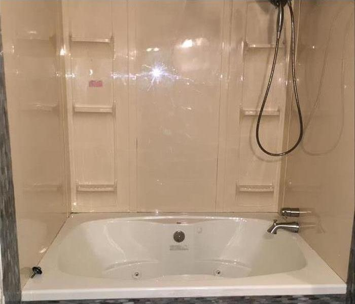 clean bathtub and shower completely repaired